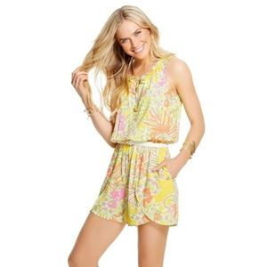 lilly pulitzer for target floral print romper L